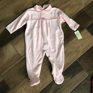 Leveret baby girl sleeper bodysuit  NWT